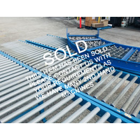 SOLD - Conveyor - Roller Conveyor - Gravity Feed Rollers 600mm wide