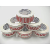 Message Tape - Red Message on White Tape - Printed Tape