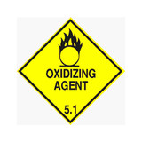 Oxidizing Agent 5.1 - Dangerous Goods Label 100mm x 100mm - 1000/roll